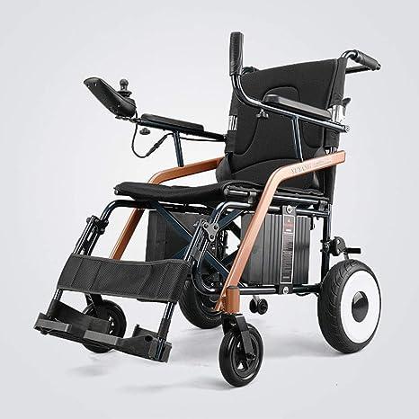 BHXUD Ancianos Eléctrico Silla De Ruedas Plegable Ligero Inteligente Automático Ancianos Super Ligero Portátil Pequeño Discapacitado