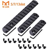 Fyland M-LOK Rail Section, 5-Slot 7-Slot 13-Slot Aluminum Picatinny Rail for Mlok Compatible Systems with 3 Allen Wrench, 12 T-Nuts and 12 Screws
