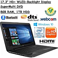 2017 Newest Flagship Model HP 17.3 HD+ Premium High Performance WLED Backlight Laptop, 7th Gen Intel Core i7-7500U, 8GB RAM, 1TB HDD, Windows 10