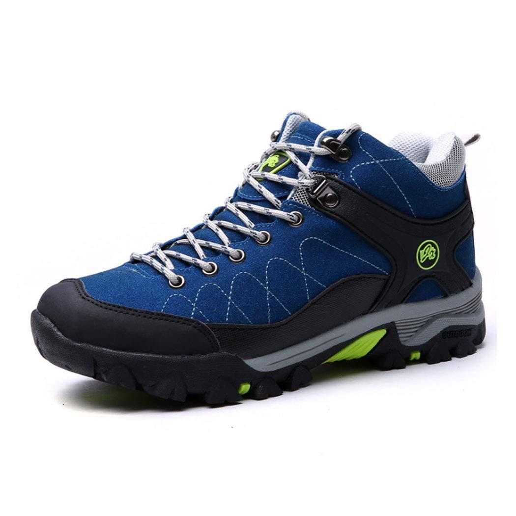 bleu 39EU HYLFF Chaussures de randonnée pour hommes, doubleure en fourrure, bottes de sécurité extérieures antidérapantes, chaussures de voyage, chaussures de randonnée, chaussures de randonnée
