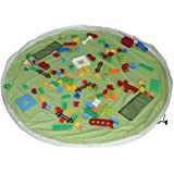 iDili Play Mat and Toy Storage Bag Large Size 60 Inches Diameter Sturdy Canvas Material (Green)
