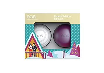 EOS Limited Edition Holiday 2018 Lip Balm Set of 2 - Sugarplum & Visibly Soft