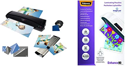 Fellowes 53061 - Pack de 100 fundas para plastificar, A4, 80 ...