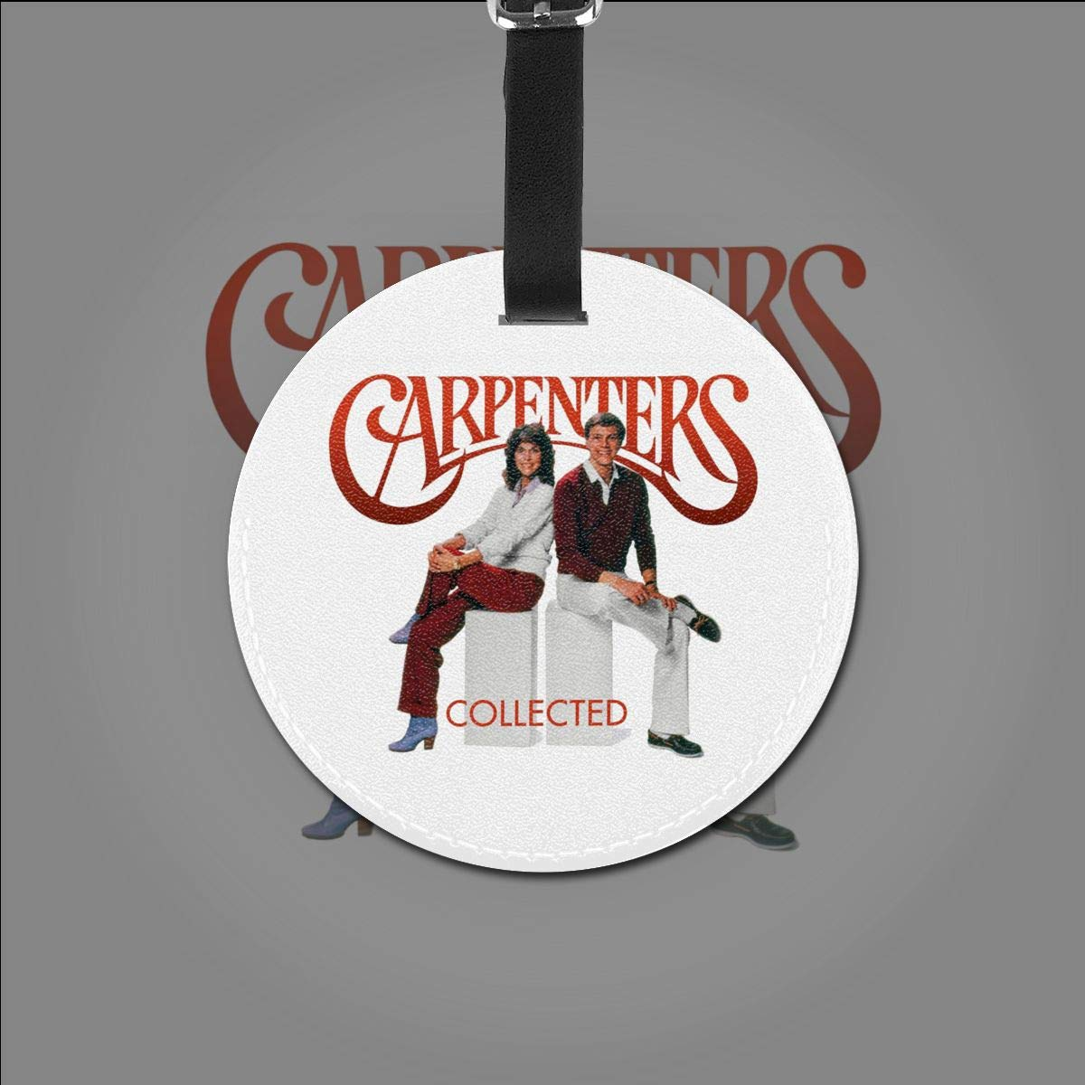 Carpenters Travel Leather Round Luggage Tags Suitcase Labels Bag