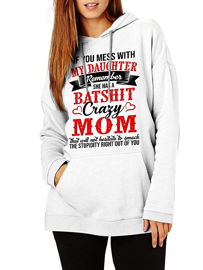 Funny Vintage Trending Awesome Shirt Unisex Style Hoodie SMLBOO Crazy Mom If You Mess with My Son