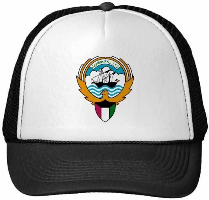 DIYthinker Kuwait Africa National Emblem Trucker Hat Baseball Cap Nylon Mesh Hat Cool Children Hat Adjustable Cap Gift