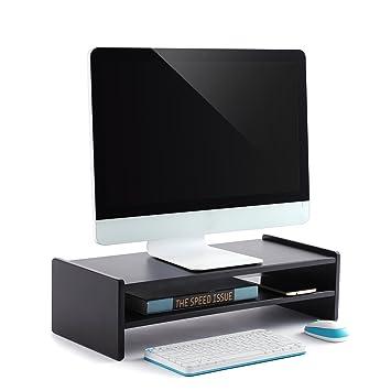 RFIVER Soporte para Monitor Elevador para Pantalla de Ordenador Portátil con 2 estantes 55 x 23.8 x 15 cm CM1004: Amazon.es: Electrónica
