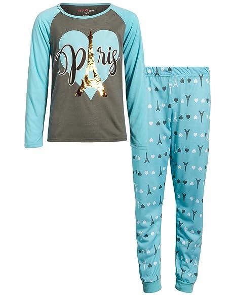 Amazon.com: dELiAs - Pijama para niña con lentejuelas: Clothing