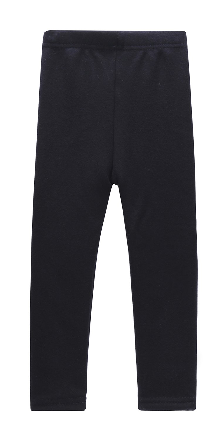 Beloved Lucia Girls Winter Fleece Lined Leggings S016 Navy Blue 4-5