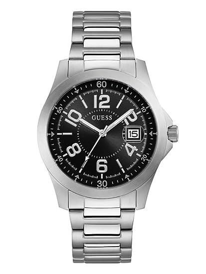 Amazon.com: Guess Hombre Acero Inoxidable De Cuarzo Reloj ...