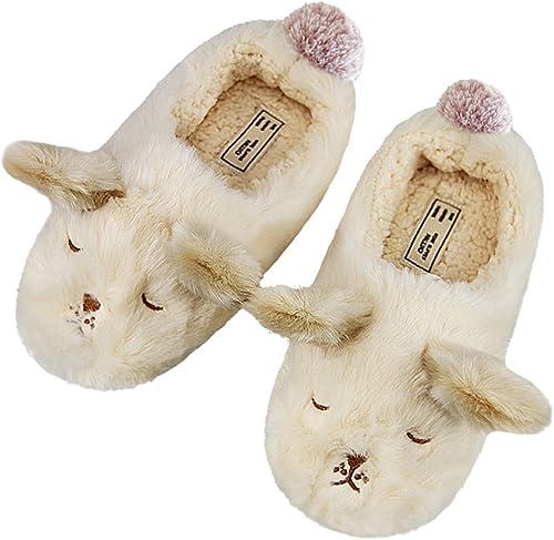Little Kid Girls Slippers Winter Slipper Booties Heart Cozy Warm Plush Slip-on Indoor Shoes