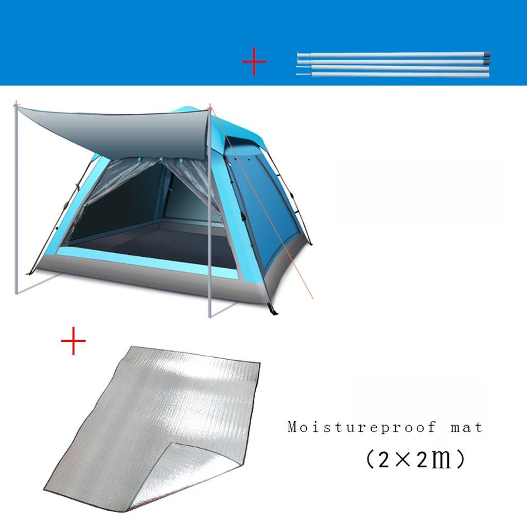 Zelt LINGZHIGAN Freien 3 4 Personen - 4 3 Personen Camping Vollautomatik Home Padded Waterproof Regen Double Wild Camping Sandy Beach 2 Personen 30f98a