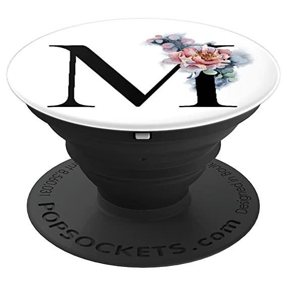 Amazon Com Black White Marbled Popsocket M Letter Initial M