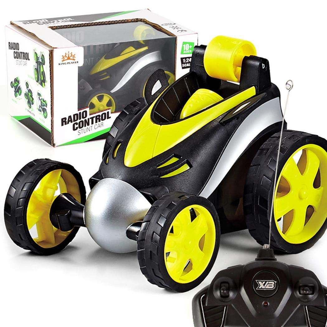 Miuniu Children Cool 360 Degrees Rotating Wireless Remote Control Stunt Tumble Car Toy Toy RC Vehicles