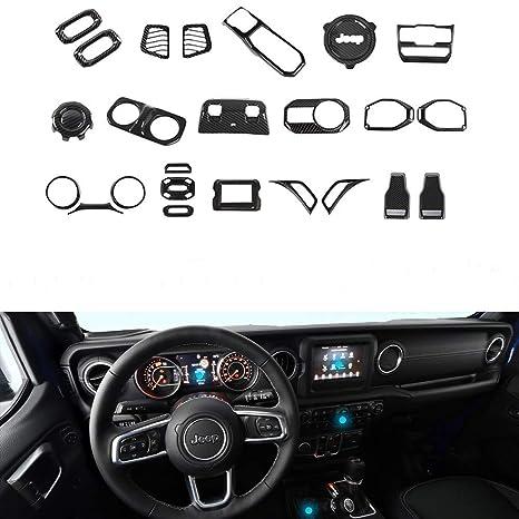 Amazon.com: JeCar Jeep JL Accesorios decoración interior Kit ...