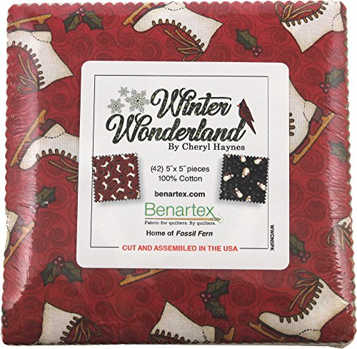 Cheryl Haynes Winter Wonderland 5X5 Pack 42 5-inch Squares Charm Pack Benartex
