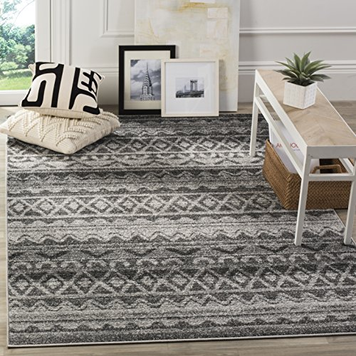 Safavieh ADR119N-8 Adirondack Collection ADR119N Modern Bohemian Area Rug, 8' x 10', Ivory/Charcoal