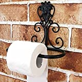 Toilet Paper Roll Holder-Toilet Paper Orrganizer-Toilet Rack Holder Home el Black Vintage Iron Toilet Paper Towel Roll Holder Bathroom Wall Mount Rack Bathroom Accessories Sets