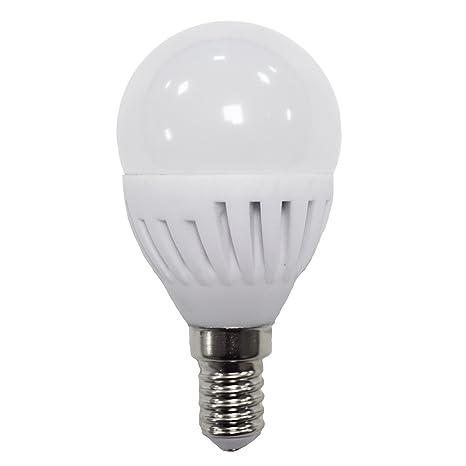 LightED Bombilla LED Esférica, 5000 K E14, 9 W, Blanco, 45 x