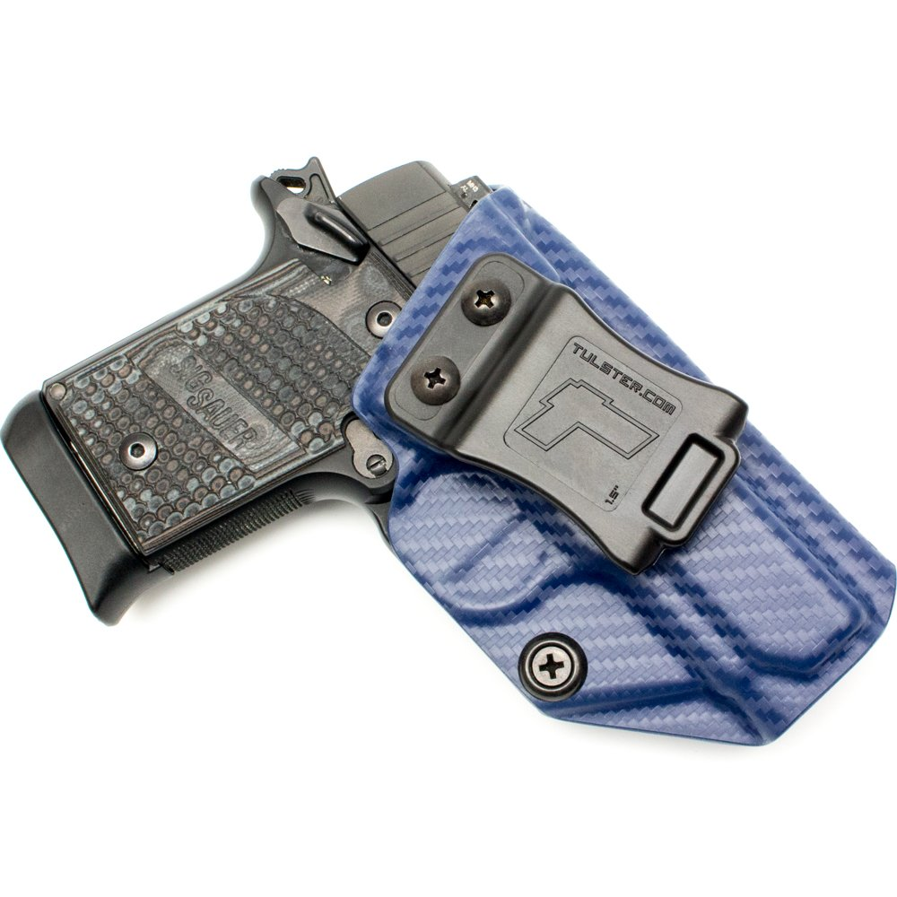 Tulster Sig P938 Holster IWB Profile Holster (Police Blue Carbon Fiber - Right Hand)