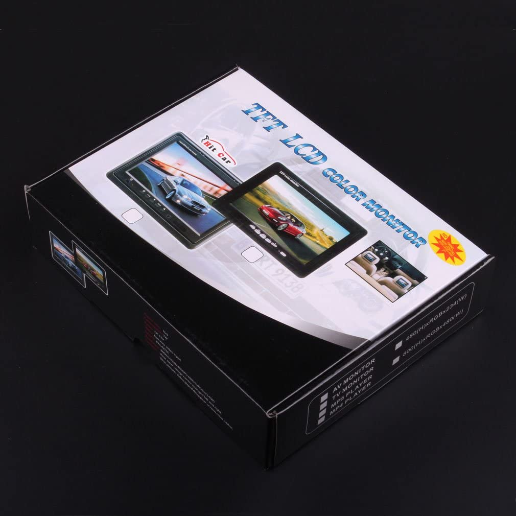 hitcar Coche cami/ón autob/ús 12/V 24/V inal/ámbrico de 2,4/GHz Kit de Aparcamiento /ángulo Amplio IR con Dash HD LED Monitor Digit Copia de Seguridad de visi/ón Trasera c/ámara de visi/ón Nocturna