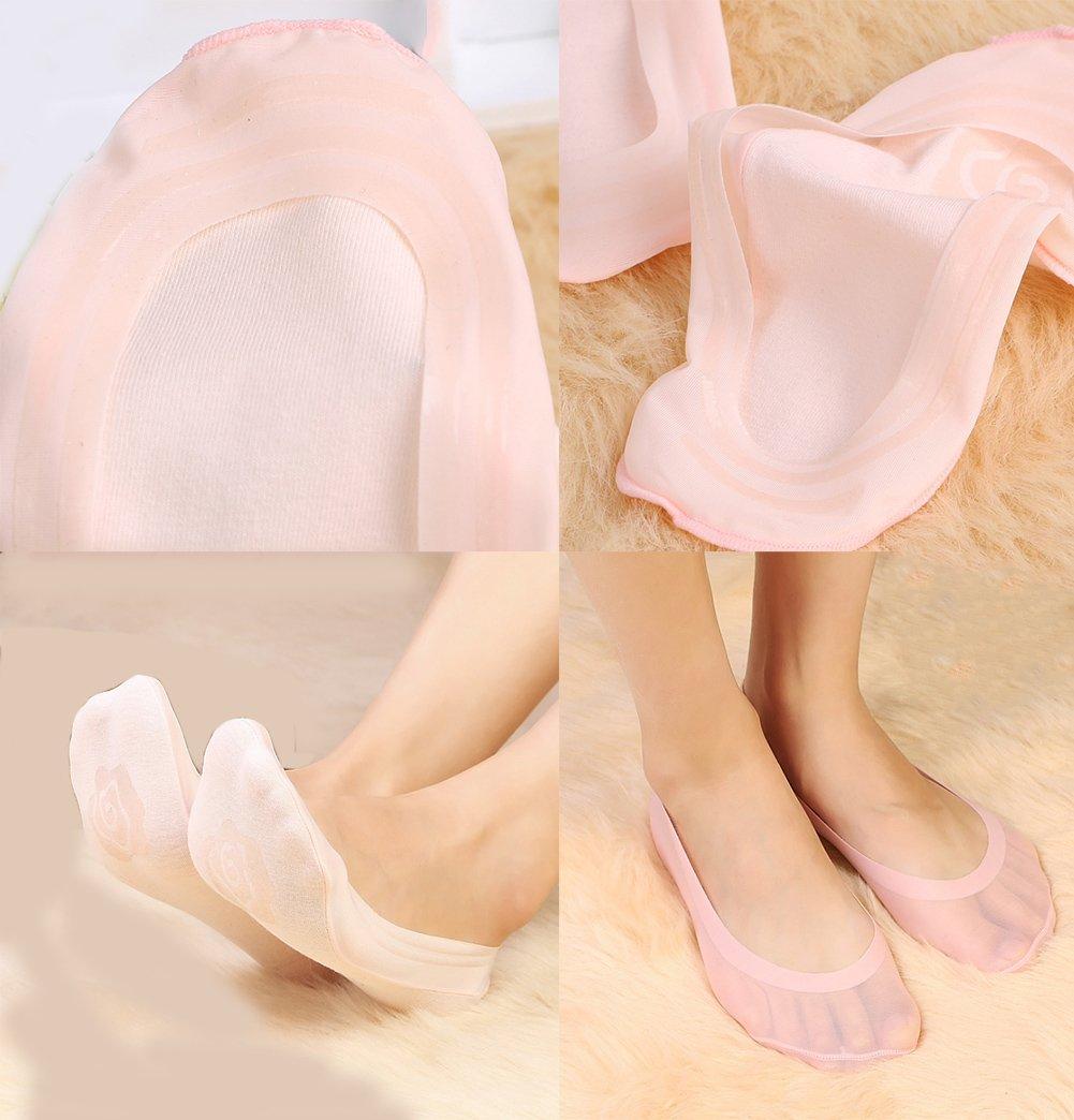 Gauss Kevin Thin Ice Silk No Show Low Cut Liner Socks Women Elastic Nylon Summer Sock Non Slip by Gauss Kevin (Image #4)