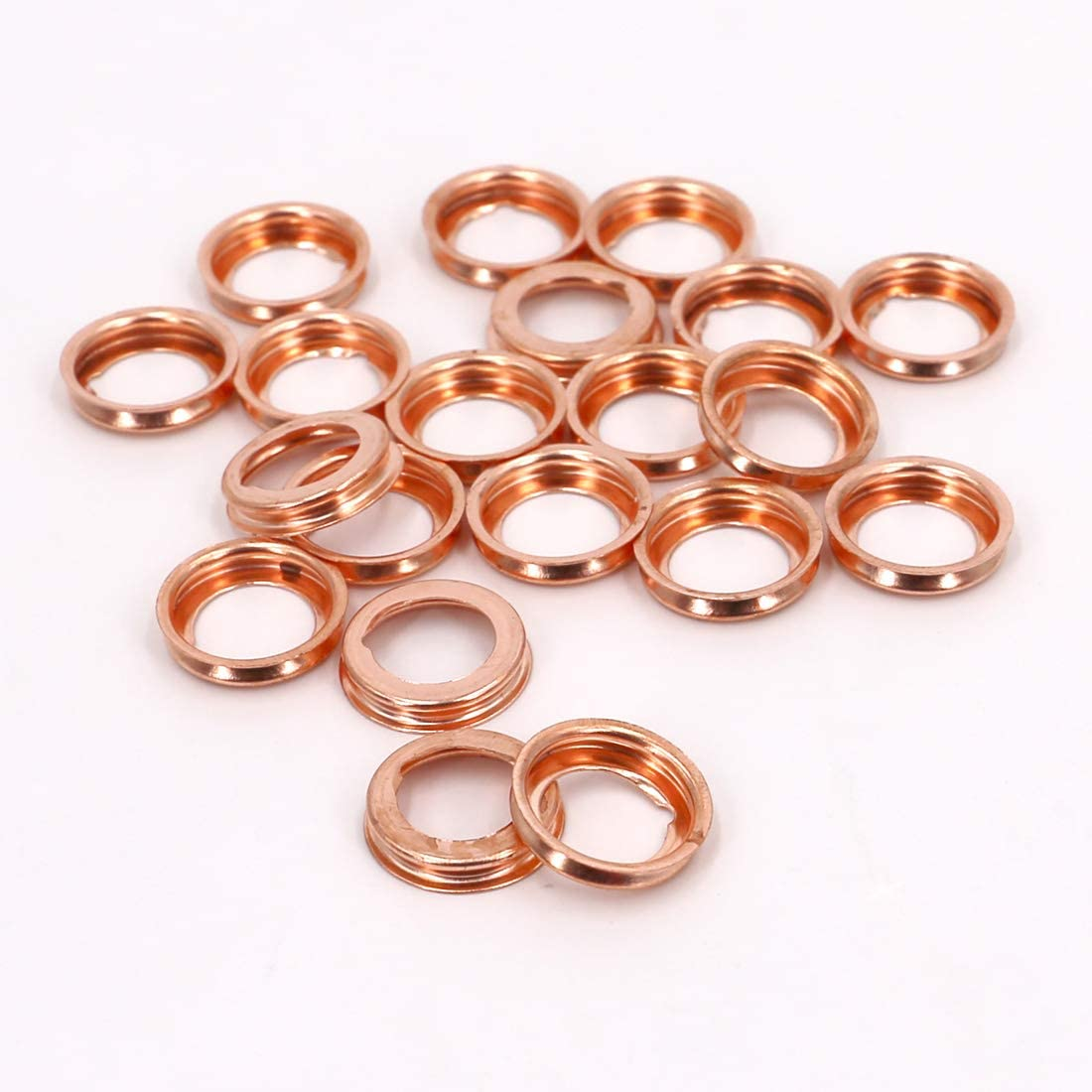 Clipsandfasteners Inc 10 Copper Oil Drain Plug Gaskets Compatible with Ford F4XY-6734-A and Nissan 11026-01M02