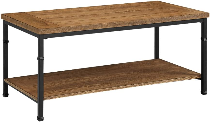 Linon Austin Coffee Table Black and Ash