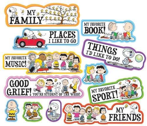 Eureka Peanuts Star of The Week Mini Bulletin Board Set