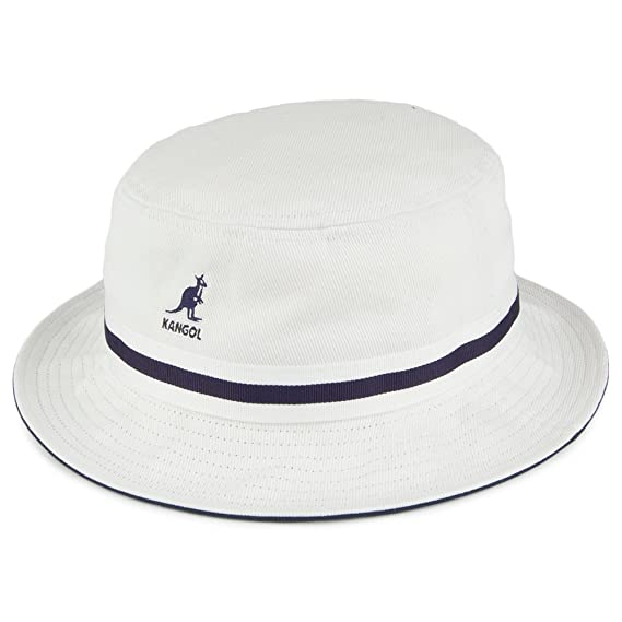 3a8e282c698 Kangol Hats Stripe Lahinch Bucket Hat - White MEDIUM  Amazon.co.uk ...