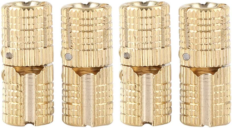 4pcs Pack Copper Brass Gift Box Concealed Bucket Hinge 8 mm 180 /° Opening Angle