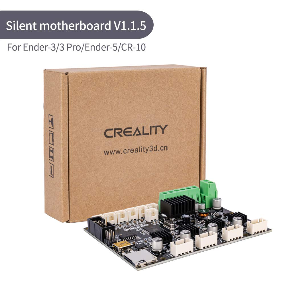 Creality 3D Ender 5 New Upgrade Motherboard Silent Mainboard V1.1.5 with TMC2208 Driver for Ender 3/ Ender 3 Pro/Ender 5 /CR-10(Customized and Non-Standard Matching)