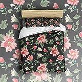 Beauty Decor Bedding 4 Piece bed Set Duvet Cover,flowers 4 Piece Bed Sheet Set 1 Flat Sheet 1 Fitted Sheet and 16 Pillow Cases