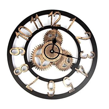 Relojes de pared Vintage Hechos A Mano De Madera Decorativos Arte 3D Silencioso para Cocina Living Comedor Casa Decoracion del Hotel: Amazon.es: Hogar