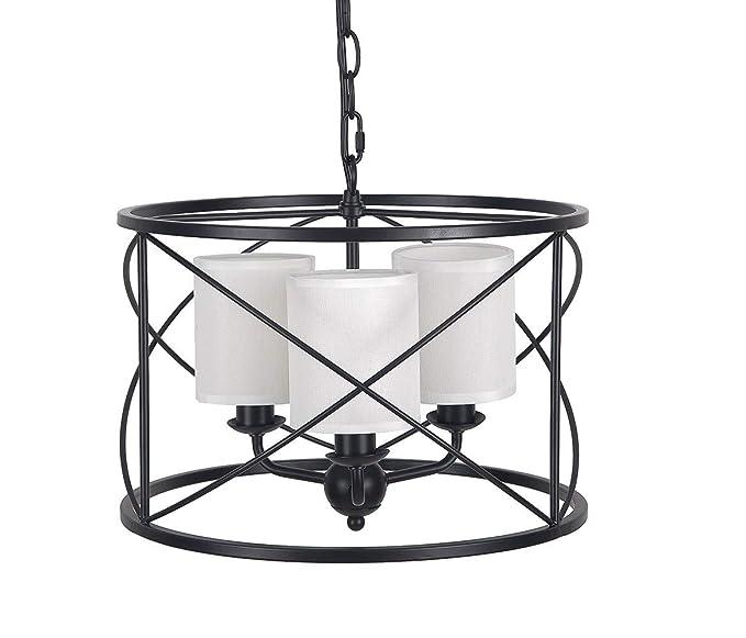 Amazon.com: Homenovo Lighting - Lámpara de techo con 3 luces ...
