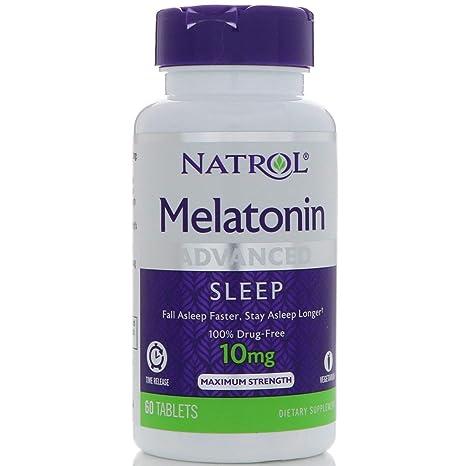 Amazon.com: Natrol Advanced Sleep Melatonin Tablets, Maximum Strength 10 mg 60 ea: Natrol: Health & Personal Care