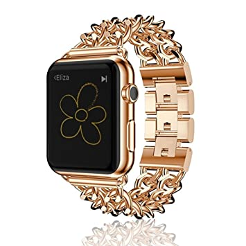 AWStech 42mm Bracelet Apple Watch Acier Inoxydable Strap Band Bracelet de  Remplacement pour Apple Watch Série