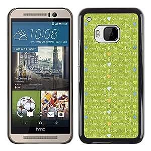 TopCaseStore / la caja del caucho duro de la cubierta de protección de la piel - Cute cartoon cloth - HTC One M9