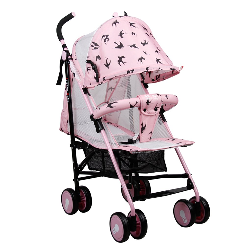 赤ちゃんのベビーカー軽量折りたたみ可能な子ども用ベビーカー(ブルー)(ピンク)(オレンジ)60 * 51 * 105cm ( Color : Pink ) B07BTV8Q6M