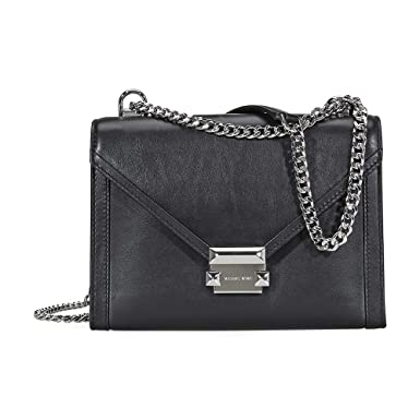 e3a933b66fde Image Unavailable. Image not available for. Color: Michael Kors Whitney  Large Shoulder Bag- Black