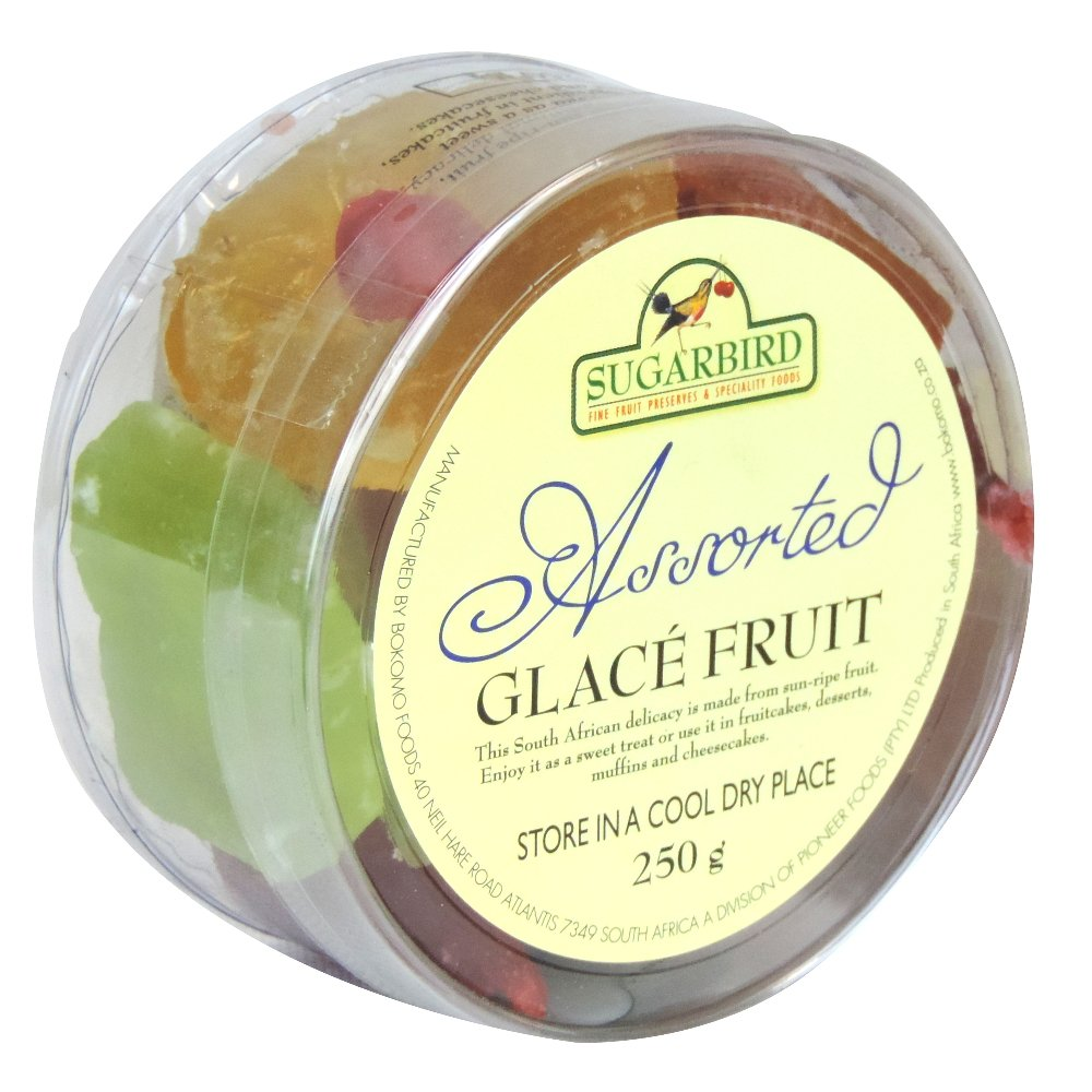 Sugarbird - Glace Fruit Assorted Fruit - 250g (Case of 12)