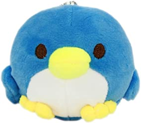 Japan Super Soft Penguin Plush Doll Cute Squishy Blue Bird Parakeet Mochii Plushie