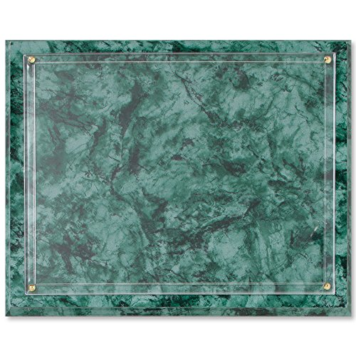 Clear Acrylic Wall Plaque - Marbled Green Slide-in Certificate Wall Plaque, 11.25 x 13.75 Inches