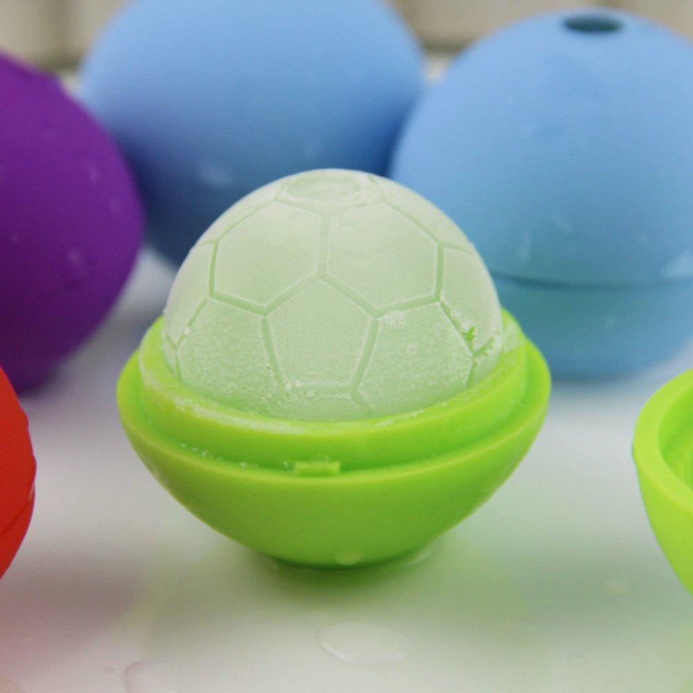 KAYI Moule de glace de football 3D moule créatif flexible de fabricant de glace de silicone
