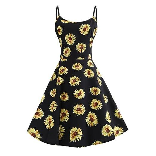 8bd294866715b 2019 New Women s Sunflower Dress