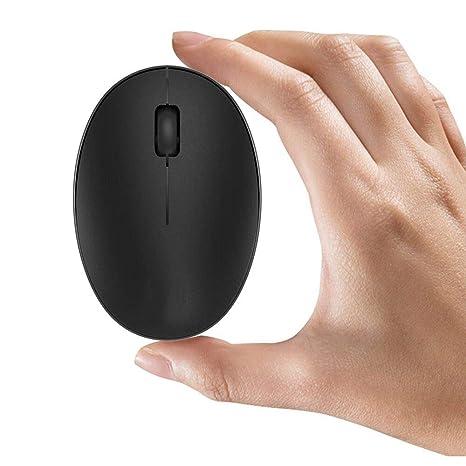 TENMOS Mini ratón inalámbrico recargable para ordenador, 2.4 GHz ratón óptico de viaje silencioso con