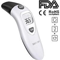 Joly Joy Termómetro Digital De Frente y Oído & Objeto, 3 en 1 Termómetro con Sensor de Temperatura Infrarroja con Certifica FDA RoHS Pantalla LED Ideal para Bebés y Adultos