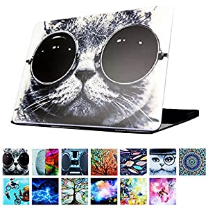 """YMIX  Plastic Cover Snap on Hard Protective Case for 2016 Pro 13"""" NO CD-ROM (A1706 & A1708) , #Chic Cat in Sunglasses"""