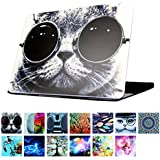 """YMIX Plastic Cover Snap on Hard Protective Case for MacBook Air 11""""(A1370 & A1465) , #Chic Cat in Sunglasses"""