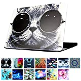 YMIX  Plastic Cover Snap on Hard Protective Case for MacBook Air 13'(A1466 & A1369) , #Chic Cat in Sunglasses